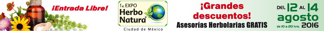 Asiste a la 1a Expo Herbo Natura, ¡entrada libre!